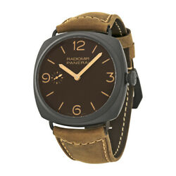 Pre-owned Panerai Radiomir Composite 3 Days Brown Dial PRE-PAM00504