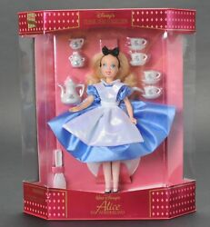 Disney Classic Doll Collection Alice In Wonderland W Tea Set New In Box