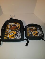 The Northwest Company Green Bay Packers Accelerator Backpack And Lunchbox New