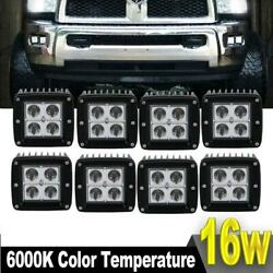8X 3inch 48W Spot LED Cube Pods Work Light Offroad Truck Ford 16W18W