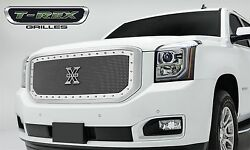 Fit 2015-2015 Gmc Yukon Stainless Steel Polished Chrome Stud Mesh Grille Insert