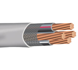 500and039 6-6-6-6 Copper Ser Service Entrance Cable Pvc Jacket Gray 600v