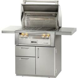 Alfresco ALXE 30-Inch Natural Gas Grill On Deluxe Cart With Rotisserie