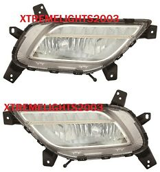 FITS KIA NIRO 2017-2018 RIGHT LEFT FOG LIGHTS BUMPER DRIVING LAMPS PAIR WBULBS