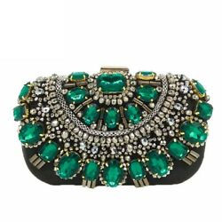 Elegant Women Clutches Handbags Black Beaded Evening Bags Wedding Clutch Handbag $19.99