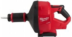 Milwaukee M18 Drain Cleaning Snake Auger Cordless 5/16 In. Cable Drive Tool-only