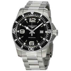 Longines Hydroconquest Black Dial Menand039s 44mm Watch L38404566