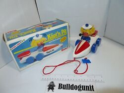 Vintage Käpt'n Pit Wood Sailor Boat Captain W/ Box Germany Simba Toy Pipe Toys