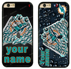 Custom Miami Dolphins Personalised Name Hard Phone Case For Iphone/ Samsung/lg