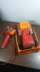 Great Vintage Cragstan Bulldozer Tin Lithographed Battery Operated Toy