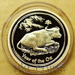 2009 Australia Lunar Ii Year Of The Ox 15 1/10 Oz Gold Proof Coin Ultra Rare