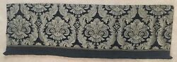 JC Penney Black amp; Gold Damask tapestry Valance ...Home Collection 60quot; x 18quot;