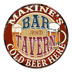 Cwbt0254 Maxine's Bar N Tavern Tin Sign Mother's Day Christmas Gift For Woman