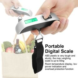 50kg LCD Digital Travel Luggage Postal Hanging Hook Electronic Weighing Scale SD