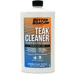 Better Boat Teak Cleaner For Teak And Other Fine Woods Boats Cleaning Marine ...
