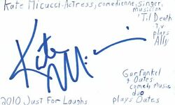Kate Micucci Singer Musician Actress Comedian Autographed Signed Index Card