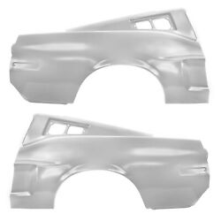 1968 Mustang Fastback Quarter Panel W/sail Right And Left Side W/early Marker Hole