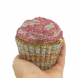Designer Cupcake Clutch Women Crystal Evening Handbags Bridal Wedding Purse Bag $69.99