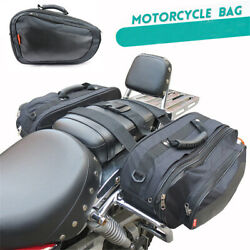 Motorcycle Bike Saddle Bag Luggage Helmet Tank Bags +Rain Cover Polyester Oxford