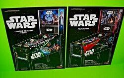 Stern Star Wars Limited And Pro Models Original Arcade Game Pinball Machine Flyers