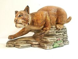 HAND PAINTED CERAMIC PANTHER FIGURINE 10quot; TALL MUST SEE