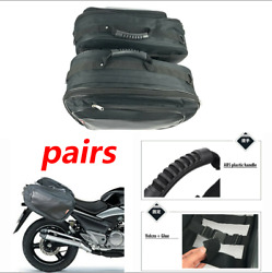 2*Universal Oxford 36-58L Saddle Bags Luggage Pannier Helmet Tank Bag