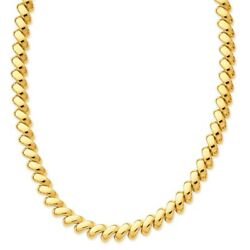 14k 14kt Yellow Gold Polished San Marco Necklace 17 Inch X 10mm