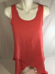 Wit And Wisdom Women Neon Pink Tank Top Scoop Neck Best Offer Stretch Size Small
