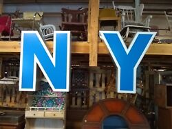Vintage 40 Lighted Marquee Channel Letters Nycool Light Up Sign S/r