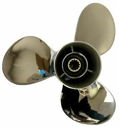 11 1/8x13-g Outboard Propeller Stainless Steel For Yamaha 40-60hp 69w-45945-00-e