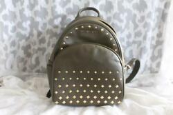 Michael Kors Backpack Purse Olive Green Studded Leather NWT Retials $398