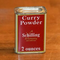Vintage Schilling Spice Tins San Francisco - Great Colors And Graphics