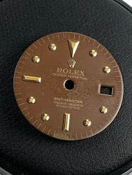 Vintage Rolex GMT Master Brown Hyphen Dial for 1675 Gold Watch for parts Stella