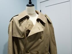 Burberrys Mens Trench Coat Long Vintage Made In England 42 Reg. Last One.
