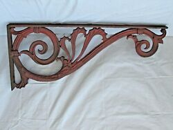 Antique Ornate Large Iron Sign Bracket 46 Long The Very Best