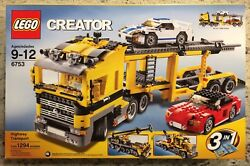 Lego 6753 Creator 3 In 1 Highway Transport New In Factory Sealed Box Ages 9-12