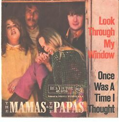Mamas And Papas--german Picture Sleeve Only---look Through My Window--ps--pic-