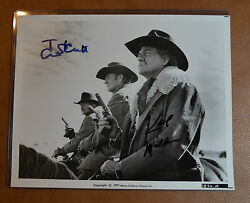 Tom Skerritt And Karl Malden Authentic Autographs 8x10 Still From Wild Rovers Rare