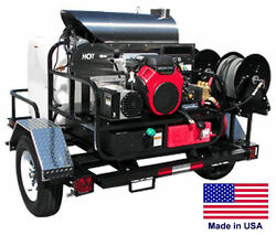 PRESSURE WASHER Hot Water - Trailer Mount - 200 Gal - 8 GPM - 4000 PSI - 115V  H