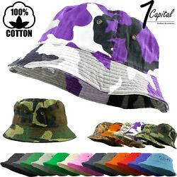 Bucket Hat Cap Cotton Fishing Boonie Brim visor Sun Safari Summer Men Camping $8.89