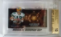 Aaron Rodgers Upper Deck Playoff Round-up RC Graded BGS 10.