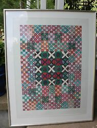 Original -barbara Kohl-spiro - Love And Kisses Quilt Watercolor -wisconsin Listed