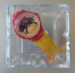 Vintage Coca-cola Watch Sharing A Soda Comes In Ice Cube Coke Box
