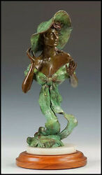 Howard Rogers Bronze Sculpture Original Summer Breeze Female Signed Statue Art