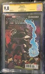 Thanos 5 Cgc 9.8 Venomized Variant Signed By Rob Guillory Venom Infinity War