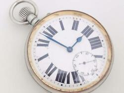 Very Large White Dial Open Face Pocket Watch No.219