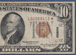 1934a 10 Hawaii ♚star♚ ♚star♚ Pcgs Very Fine 20 Hard To Find