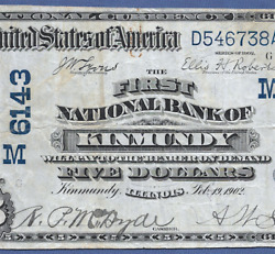 Il 1902 5 Db ♚♚kinmundyillinois♚♚ Only Date-back 5 Known