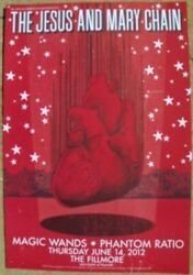 The Jesus And Mary Chain Poster Fillmore Offset Magic Wands Phantom Ratio 2012 And