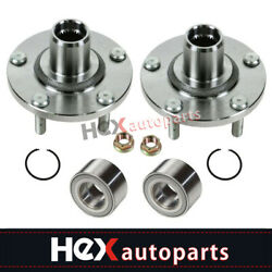 Front Wheel Hubs And Bearings Kit Pair For Nissan Altima Maxima I30 I35 402022y010